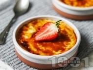 Рецепта Веган крем брюле с кокосово мляко, бадемово мляко и агар агар